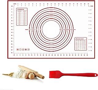 Generic Lonhchi Tapis de cuisson en silicone, 60 x 40 cm, réutilisable, anti-adhésif, revêtement pour four, fond et ruche