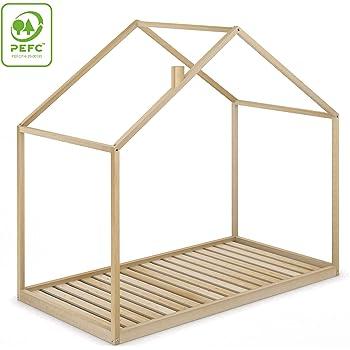 Velinda Cama Infantil en Forma de casa Dosel para ninos 190x90cm (Color: Blanco): Amazon.es: Hogar