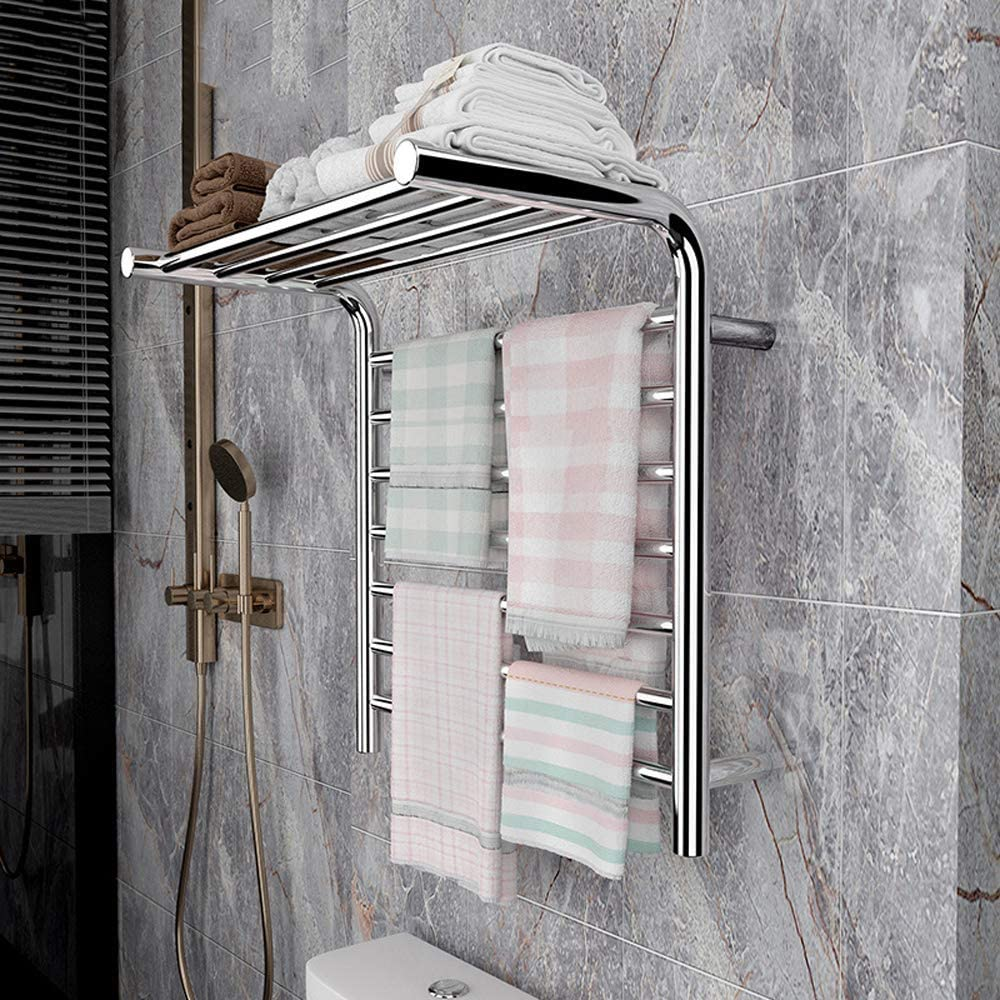 Towel Warmer Bombing free shipping Electric Rack Wall 1 Heated Circular Mounted Outlet ☆ Free Shipping