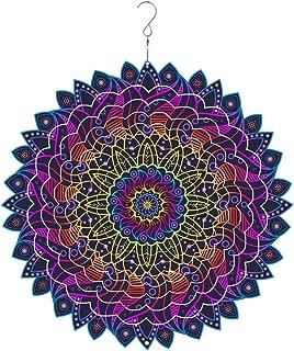 windmas - 3D Mandala Wind Spinner Decorations – Laser Cut Metal Mandalas Art, Starburst Hanging Décor – Indoor/Outdoor Decor