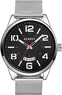 Curren Men's Black Dile Stainless Steel Watch 8236