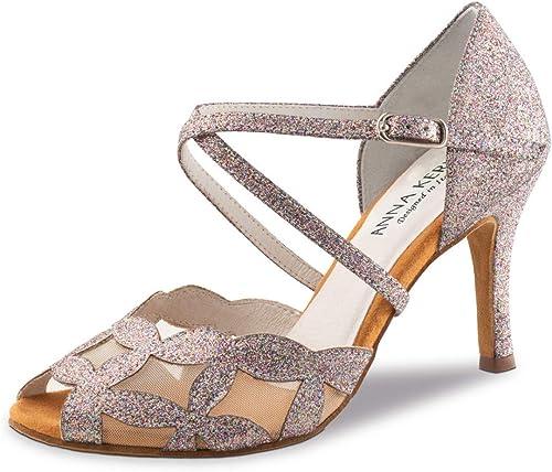 Anna Kern Femmes Chaussures de Danse 820-75 - Brovoituret rose Multicouleur - 7,5 cm