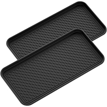 Multi-Purpose Rubber Like Boot Mat /& Shoe Tray for Indoor and Outdoor Use Hardwood Floor Protection 30in x 15in x 1.2in 2 Pack Single