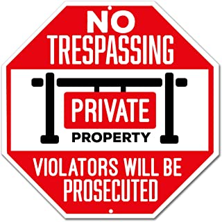 No Trespassing Sign - Private Property Sign - Violators Will Be Prosecuted - Large 12