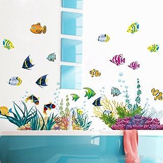 WandSticker4U®- stickers muraux enfants MONDE SOUSMARIN 1 (130x42 cm) I poissons aquarium mer autocollants I sticker mural...