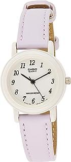 Casio Womens Quartz Watch, Analog Display and Leather Strap