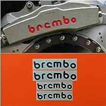 R&G Brembo Racing Curve High Temp Brake Caliper Decals Set of 4 (Black)