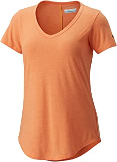 Columbia Women's Willow Beach Tee, Summer Orange Twisted Yarn, XS