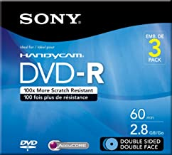 8CM Double Sided DVD-R (3 pack) (Discontinued by Manufacturer)