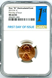 2019 W US MINT Lincoln Union Shield UNCIRCULATED FIRST DAY OF ISSUE Penny Cent MS66 RD NGC