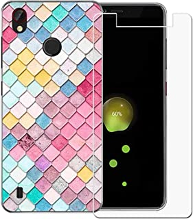 YZKJ Mobilskal för ZTE Blade A4, Cover Semi-Trasparent mjukt silikonskal, flexibelt TPU-skal, skyddsskal, mobilskal med pa...