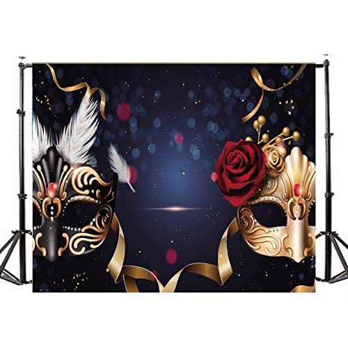 TMOTN 7x5ft Masquerade Backdrop Birthday Party Banner Thin Vinyl Photo Background Studio Props For Photography