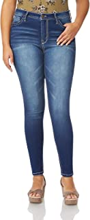 WallFlower Women's Juniors Plus Size High Rise Irresistible Denim Jegging