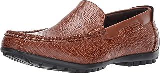 حذاء رجالي بدون كعب من STACY ADAMS مطبوع عليه Kian Moc Toe بدون كعب
