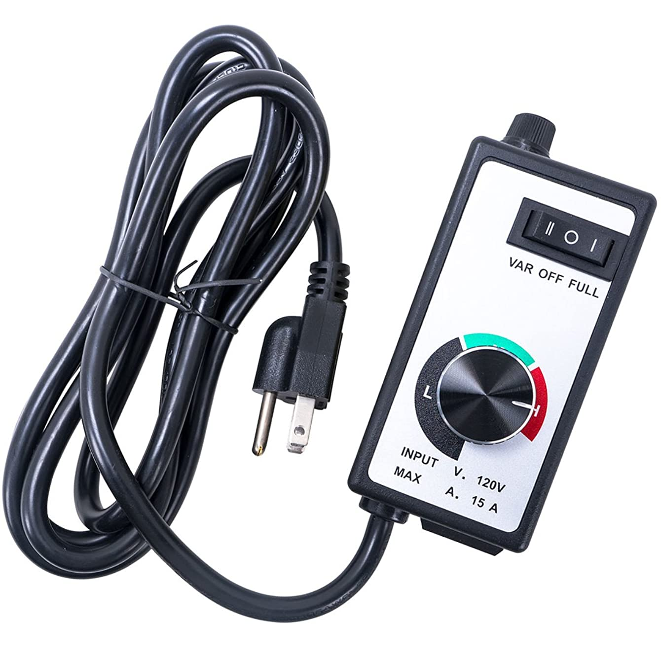 CastleGreens Variable Fan Speed Controller 120V for Inline Duct Fan Exhaust 15A, 6 FT Power Cord