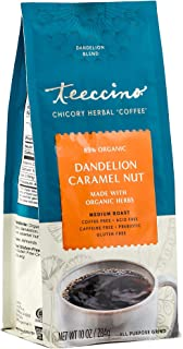 Teeccino Coffee Alternative – Dandelion Caramel Nut – Detox Deliciously with Dandelion Herbal Coffee That's Prebiotic, Caf...