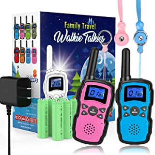 Wishouse Rechargeable Walkie Talkies for Kids with Charger Battery,Family Two Way Radio..