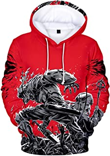 ZIMCA Men Goblin Slayer 3D Printed Pullovers Casual Pouch Pocket Drawstring Hoodies