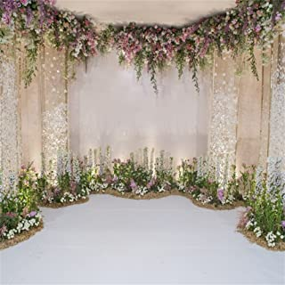 AOFOTO 10x10ft Arch for Wedding Ceremony Backdrop Interior Romantic Flower Canopy Archway Banner Photography Background Bride Girlfriend Lovers Fiancee Nuptial Decoration Studio Props Vinyl Wallpaper