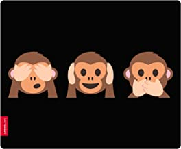 Speedlink Monkey Emoji See No Hear No Speak No Evil Silk Mousepad Mat   Black