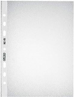 Herlitz 10468585 Pack de 100 pochettes en plastique A5 Standard grainées 0,055 mm (Transparent) (Import Allemagne)