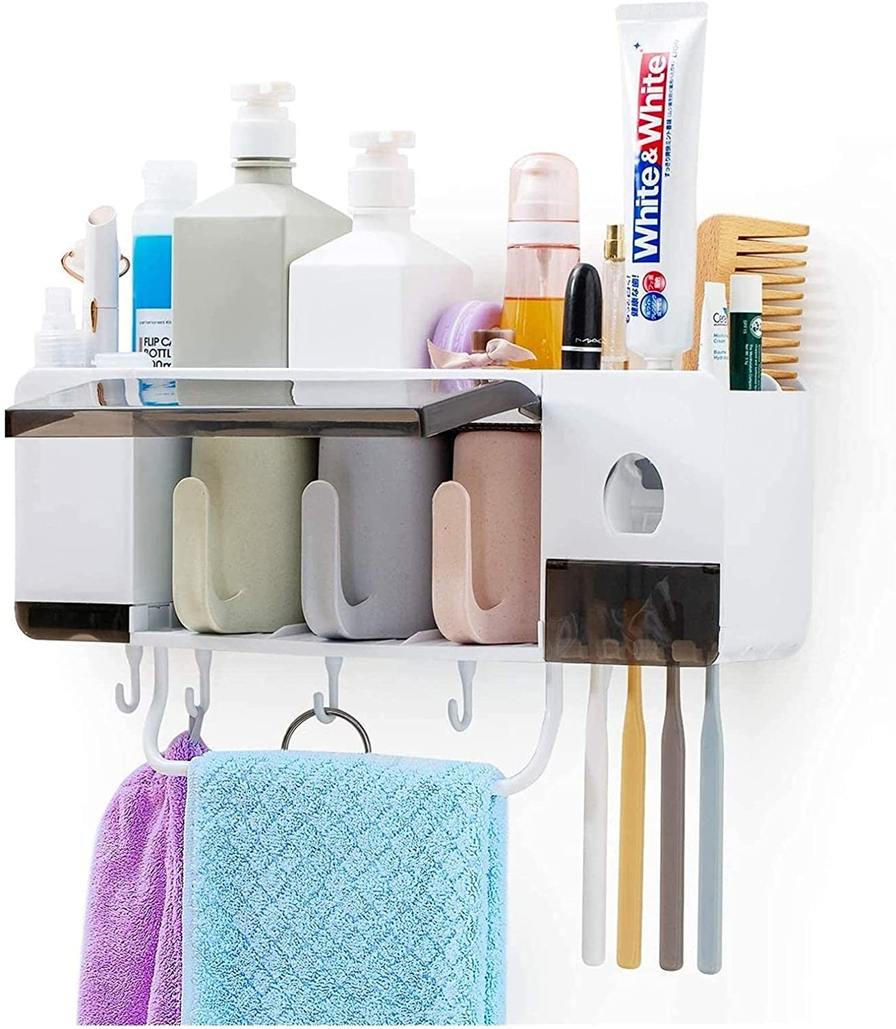 Automatic Toothpaste Squeezer Oklahoma City Mall Ranking TOP3 Wall Holder Toothbrush Mount and
