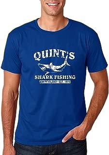 AW Fashions Quint's Shark Fishing - Funny Fishing Shirt, Fisherman Gifts, Present for Fisherman - Jaws Retro Men's T-Shirt