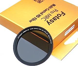 Fotasy 49mm Ultra Slim Circular PL Lens Filter, Nano Coatings MRC Multi Resistant Coating Oil Water Scratch, 16 Layers Multi-Coated 49mm CPL Filter