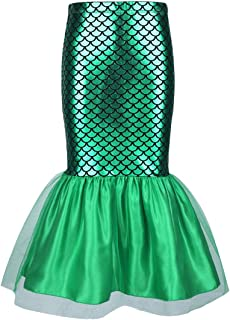 iEFiEL Little Girls Toddler Mermaid Tail Halloween Costumes Princess Party Shiny Sequins Long Skirt