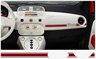 Fiat 500 ABARTH dashboard decal 2 pcs. (red)