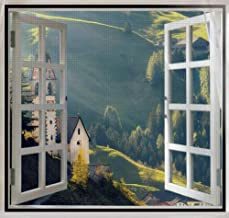 BASHI Beschermend net voor raam, duurzaam kattenveiligheidsnet, vliegeninsecten, anti-muggenbescherming met magische tape,...
