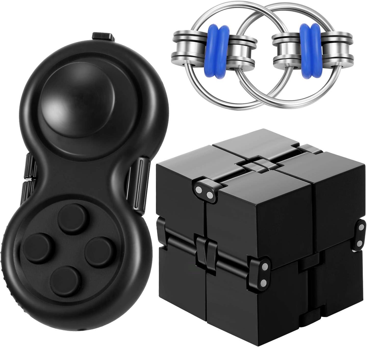 Max Ranking TOP19 45% OFF 3 Pieces Fidget Toy Set Cube Flipp Infinity Key Including