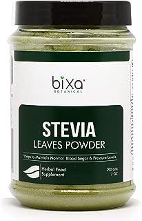 Stevia Leaf Powder (Stevia Rebaudiana) - Unprocessed Stevia Sugar ǀ Helps to Control Blood Sugar and Blood Pressure Level ǀ Natural Alternative to Processed Sugar ǀ (7 Oz / 200g)