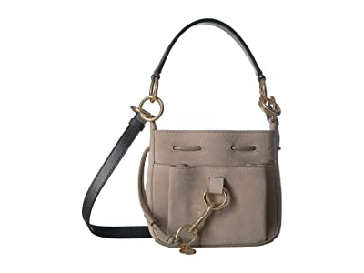 See by Chloe 8 Drawstring Leather Crossbody Bag (Motty Grey) Handbags