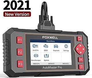 اسکنر اتومبیل FOXWELL NT604 Elite OBD2 ABS SRS Transmission، Read Engine Code Reader، [2021 نسخه جدید] اسکنر کیسه هوا SRS، اسکنر تشخیصی اتومبیل برای همه اتومبیل ها