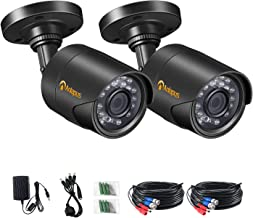 Anlapus 2 Pack HD 1080P 4-in-1 Analog/TVI/CVI/AHD Outdoor Security Cameras, 2MP 65ft Day Night Vision CCTV Surveillance Camera for 960H/720P/1080P DVR System