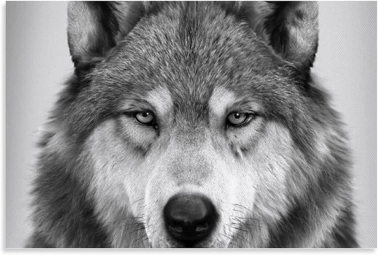 WUTOUCC Wolf Poster3 Canvas Overseas parallel import regular item Super Special SALE held Art Poster Picture Wall Prin and