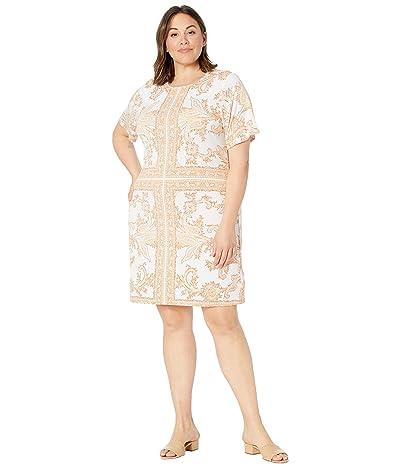 MICHAEL Michael Kors Plus Size Scarf Print Crew Neck Dress Women