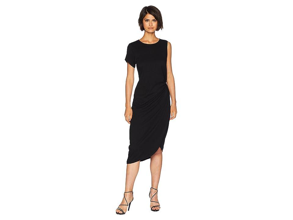 Sanctuary Salma Asymmetric Midi Dress (Black) Women