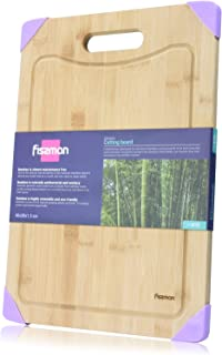 Fissman Bamboo Cutting Board 40 x 28cm - Chopping Board With a Special Groove Along the Edges