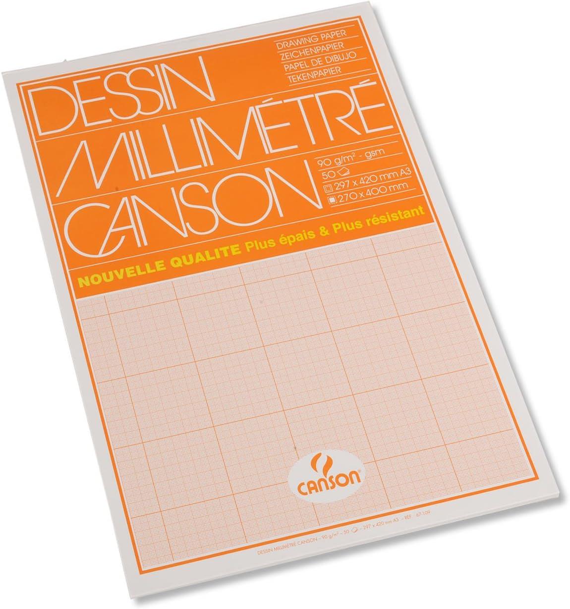 Canson Dessin Millimetre Papier A Dessin A3 29 7 X 42 Cm Bistre Amazon Fr Fournitures De Bureau