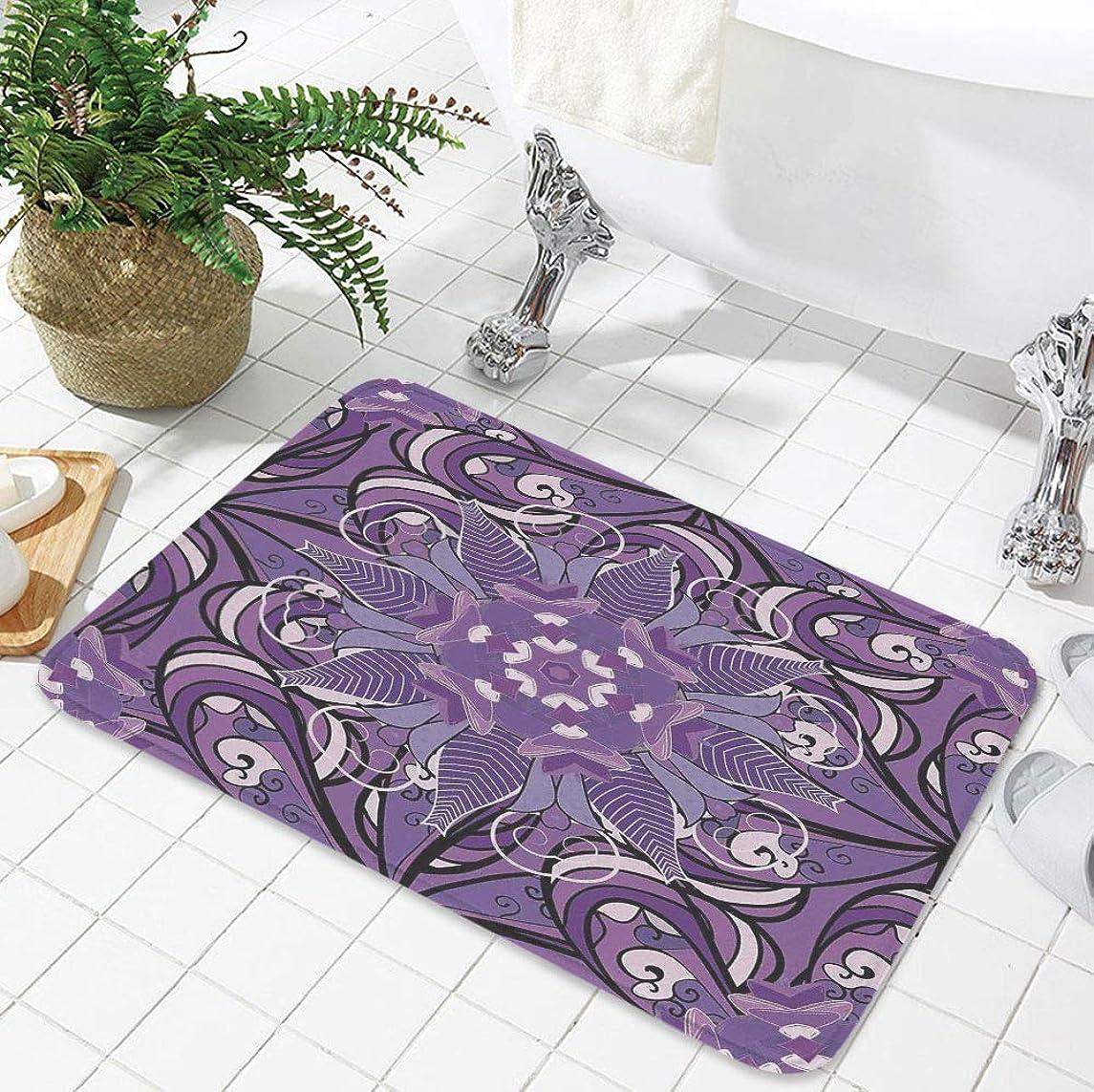 YOLIYANA Modern Carpet,Mauve,for Living Room Bathroom,19.69