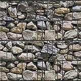 Bedruckter Sichtschutzstreifen für Doppelstabmatten Zaun auf Rolle inkl. 25 Klemmschienen (Algarve)