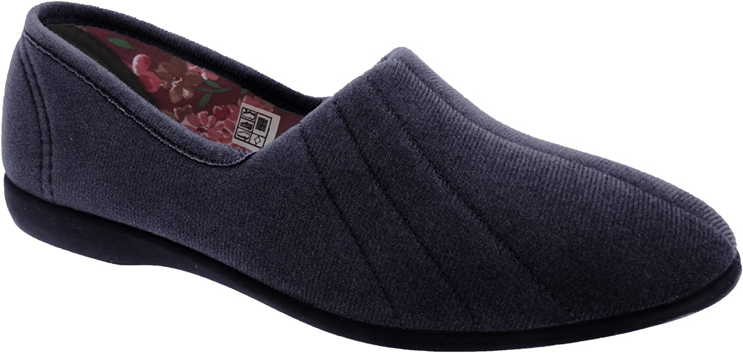 GBS Audrey Ladies Slipper   Womens Slippers (US shoes 11) (Navy)