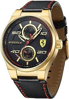 Ferrari Men'S Black Dial Rubber Band Watch - 830427,