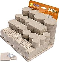 Viltglijders, zelfklevend, 240 stuks, premium viltpads, 5 mm dikke meubelglijders, sterke kleefpads, effectieve beschermin...