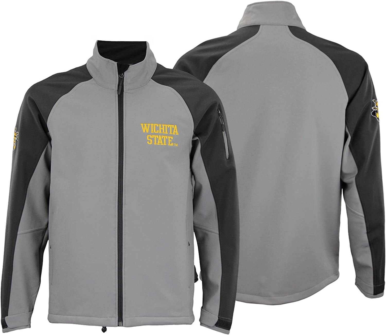 Outerstuff NCAA Men's Wichita State Shockers Fleece Jacket, Grey L