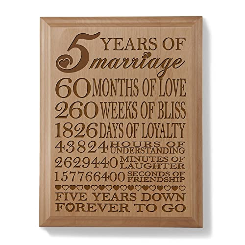 Wedding Anniversary Gifts Year By Year: 5 Year Wedding Anniversary Wooden Gifts: Amazon.com