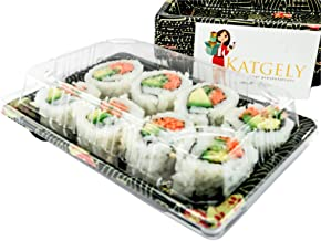 Katgely # 8 Sushi Trays with Lids (Pack of 50)