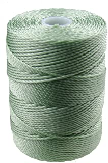 C-LON Bead Cord, Mint - 0.5mm, 92 Yard Spool